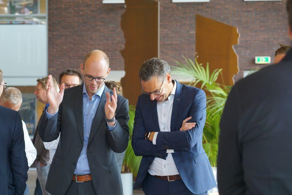 Rudy Dijkstra met Theo Vrieswijk