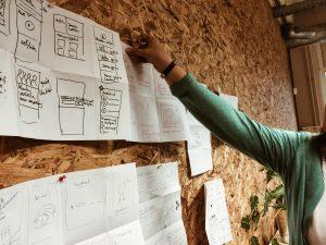 Design thinking ontwerpbord
